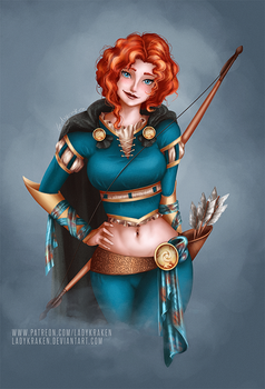 Merida Rogue Re-Design - Commission by LadyKraken