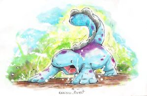 Quagsire Watercolor Tradicional. by Willian92