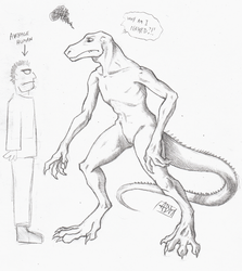 ''Daily'' sketch - Lizard Concept by 0laffson