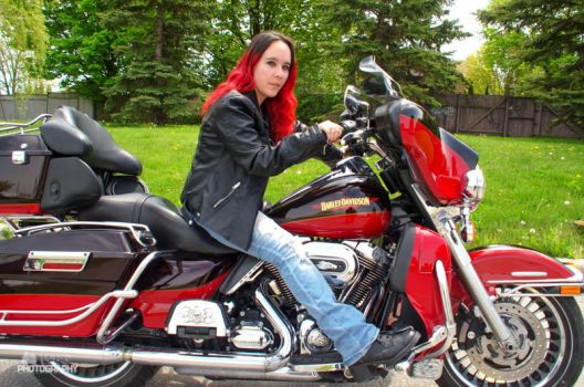 Harley Girl by wbgphotography