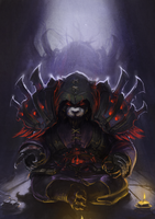 Pandaren Shadow Priest by DeVmarine