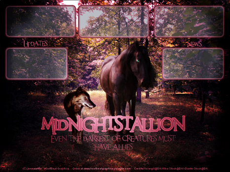 midnightstallion's Layout by HoofBeat-Graphics