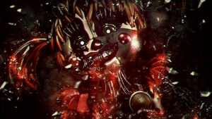 Cinema4D FNaF - Scrap Baby by xXBeteNoireXx