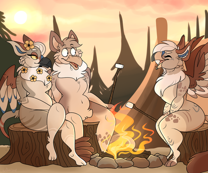 Camping (Commission) by BeastOfEuthanasia