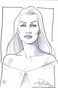 Emma Frost Commission NicolaScott by DeanSummers1