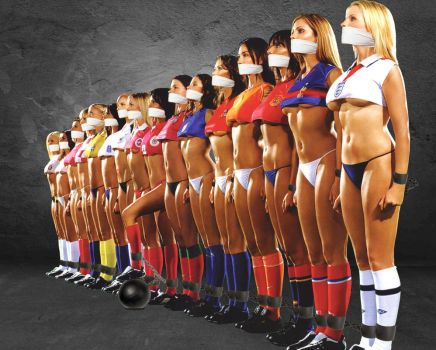 Hot soccer girls bound and gagged by TheAnonymousBondageG