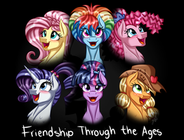 Friendship Through the Ages [Re-draw] by Jack-Pie