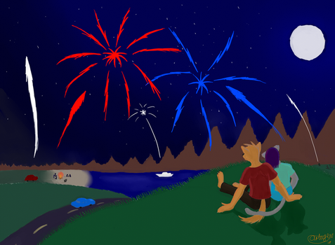 Enjoy the Fireworks by King-Roxas