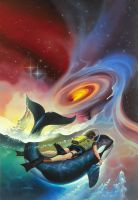 The Space Swimmers by AlanGutierrezArt
