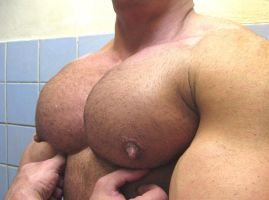 Feeling His Big Pecs by resonancegym