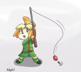 Isabelle Gon Freecss Fishing Rod by TheGreatEdgyCat