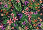 Tropical flowers pattern of exotic flower and plan by goraakkaya