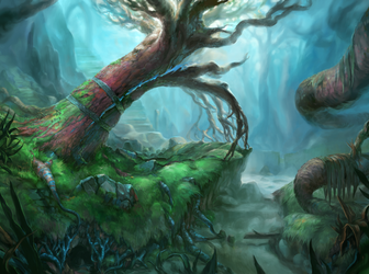 Magical Split Tree by IndianRose
