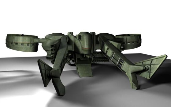 C-22 Viper Attackship - WIP 5 by MandesDesign