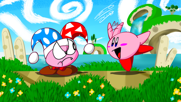 Kirby and Marx by TanookiDX