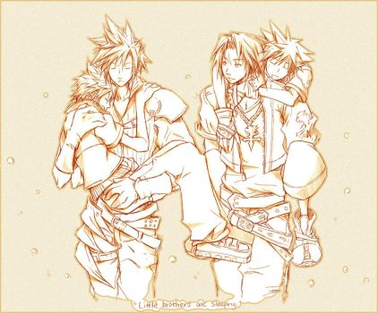 KH2: Little brothers by illbewaiting