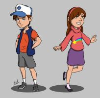 Dipper and Mabel Pines by Rica-R