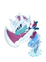 PvZ Cold Snapdragon Fanmade Hero: Frosty by JackieWolly