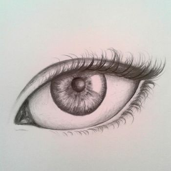 Another eye drawing by azza-chaouch