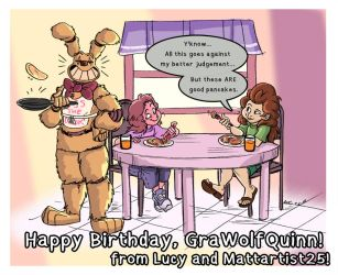 Happy Birthday GraWolfQuinn! - 7-2-18 by Mattartist25