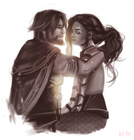 [commission] Jesse and Imogene by Ky-th