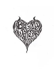 Be my valentine Lettering. by Wulzin
