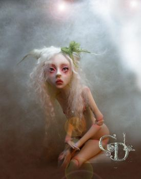 Creepy doll Ball jointed AA by cdlitestudio