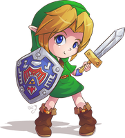 MM chibi Link by Lady-of-Link