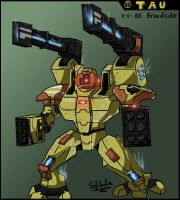 Tau XV88 Broadside Battlesuit by ShimdraShaul