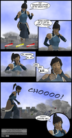 Giantess Korra Rampage - Bonus by blcksheep