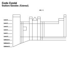 Castle Camdel--South Elevation by TeamGirl-Differel