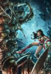 Wonder Woman vs Army of the Damned redraw by cric