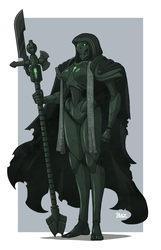 Female Necron Royal Retainer by Blazbaros