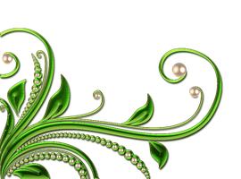 leaves and pearls png by Melissa-tm