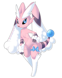 Rose - Lopunny/Flaaffy Hybrid by EyesoreForTheBlind