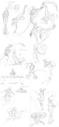 Bending Fight Poses by MissE11aneous