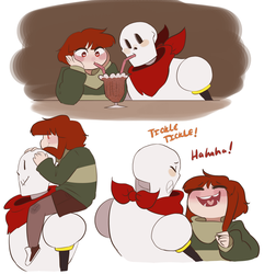Chara and Paps by Channydraws