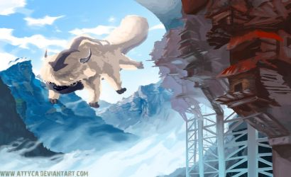 Appa in the mountains by Attyca