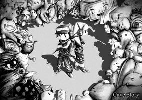 *OLD* Cave Story Wallpaper by watermeloons