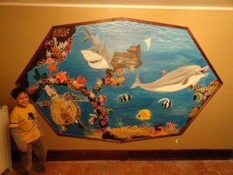 Mural I did for my son last year :) by virnagray