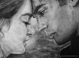 Divergent - Tris Prior and Four (Tobias Eaton) by AnastasiyaKosenko
