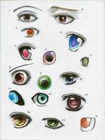 Manga Eyes *-* by Pinjachi