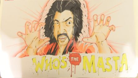 Custom Playmat: Sho Nuff, The Shogun of Harlem by ccayco