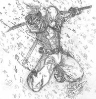 Deadpool sketch by anthonyharrisart