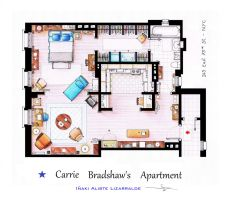 Carrie Bradshaw apartment from Sex and The City by nikneuk