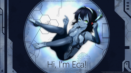 Hi, I'm Eca! (Cortana Style) by Axection
