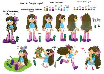 Growing Around: Tester Model Sheet by ABwingz