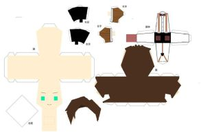 11th Doctor Papercraft Template by MonaLisaFrownForMe