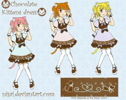 Chocolate Kittens Dress by Nisai