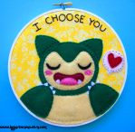 Snorlax Embroidery by iggystarpup